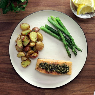 5-Ingredient Pesto Baked Salmon.