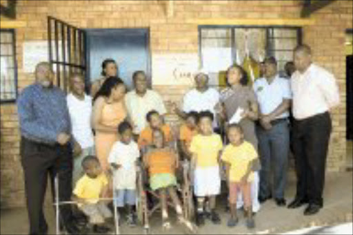 GOOD CAUSE: South African Breweries recently gave R80 000 to the Sunshine Centre, which cares for children with disabilities in Soweto and Eldorado Park. © Sowetan.