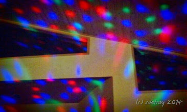 Photo: Grateful for the lights at a friends party.