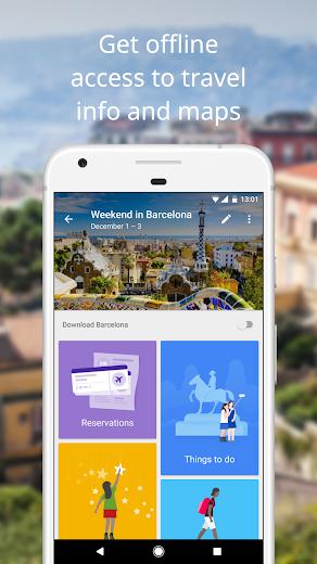 Screenshot 1 for Google Flights's Android app'