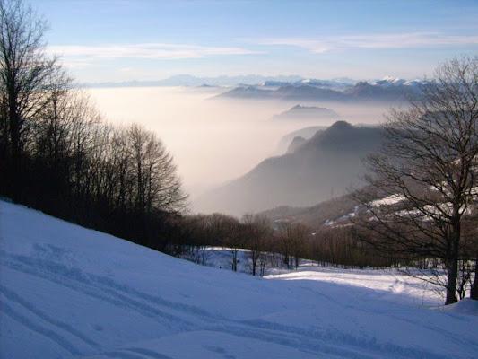 Sole in montagna...nebbia in pianura di happy