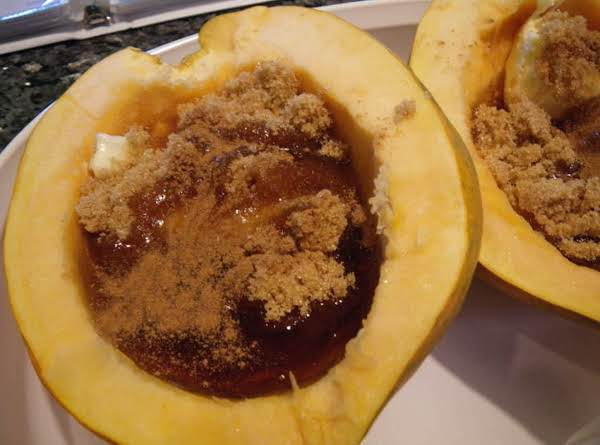 Acorn Squash With Maple Syrup