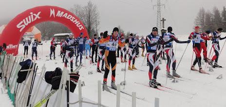 Photo: před startem skiatlonu (2x7,5 km)