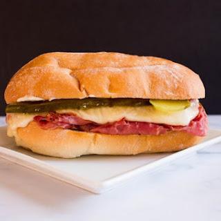 Deli Style Corned Beef Sandwich.