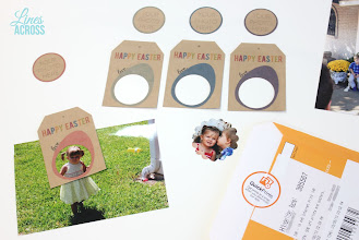 Photo: I made some photo gift tags with some of my other prints. They say Happy Easter. Simply print, trim, punch out a circle, and tape your photo to the back.