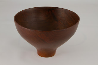 "Photo: shown by Phil Brown - 6"" x 4"" Bob Stockdale bowl [walnut]"