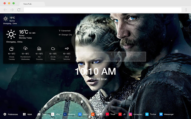 Lagertha Popular HD TV Dramas New Tab Themes