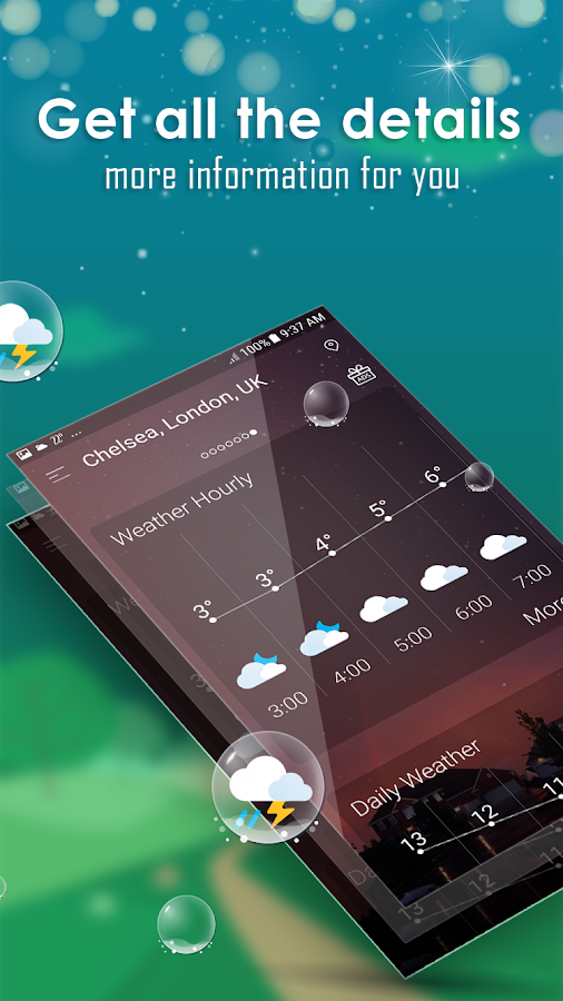 Daily weather forecast- screenshot