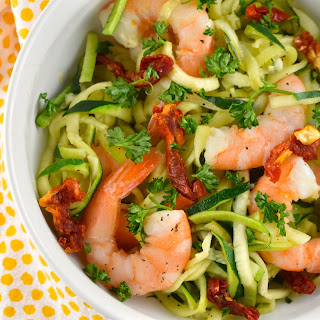 Garlic Butter Shrimp and Zoodles (Zucchini Noodles).