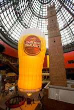 Photo: 30 metres of beer! The brand new Carlton Draught Hotair Balloon was Launched at Melbourne Central's Historic Shot Tower. Contact Picture This Ballooning on 03 9429 0277 or 0412 066 666 or picturethisballooning@bigpond.com