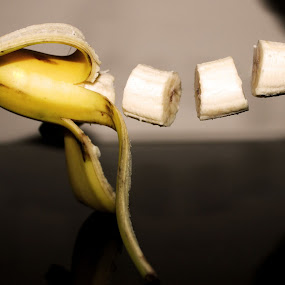 floating banana by Sanket Warudkar - Artistic Objects Other Objects ( banana, floating, photography )