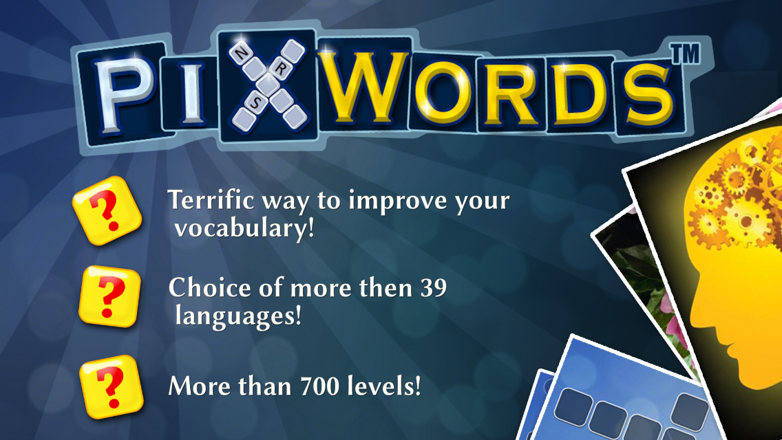 Screenshots of PixWords™ for iPhone