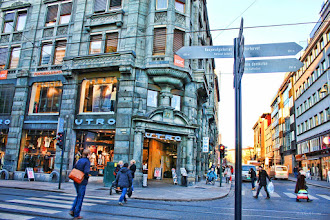 Photo: Which way shall I go? The central part of the Oslo area, Norway