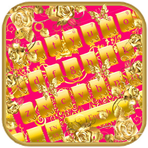 Gold Butterfly Rose Keyboard Android APK Download Free By Keyboard Theme Master