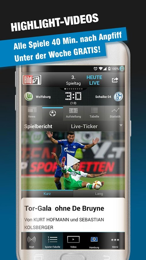 BUNDESLIGA bei BILD – Screenshot