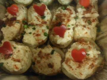 Twice Baked Potatoes for Valentine's Day