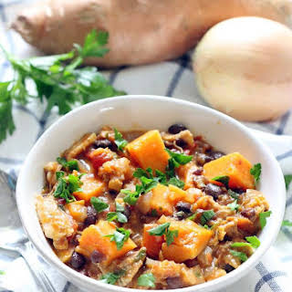 Chicken, Sweet Potato, and Black Bean Stew.