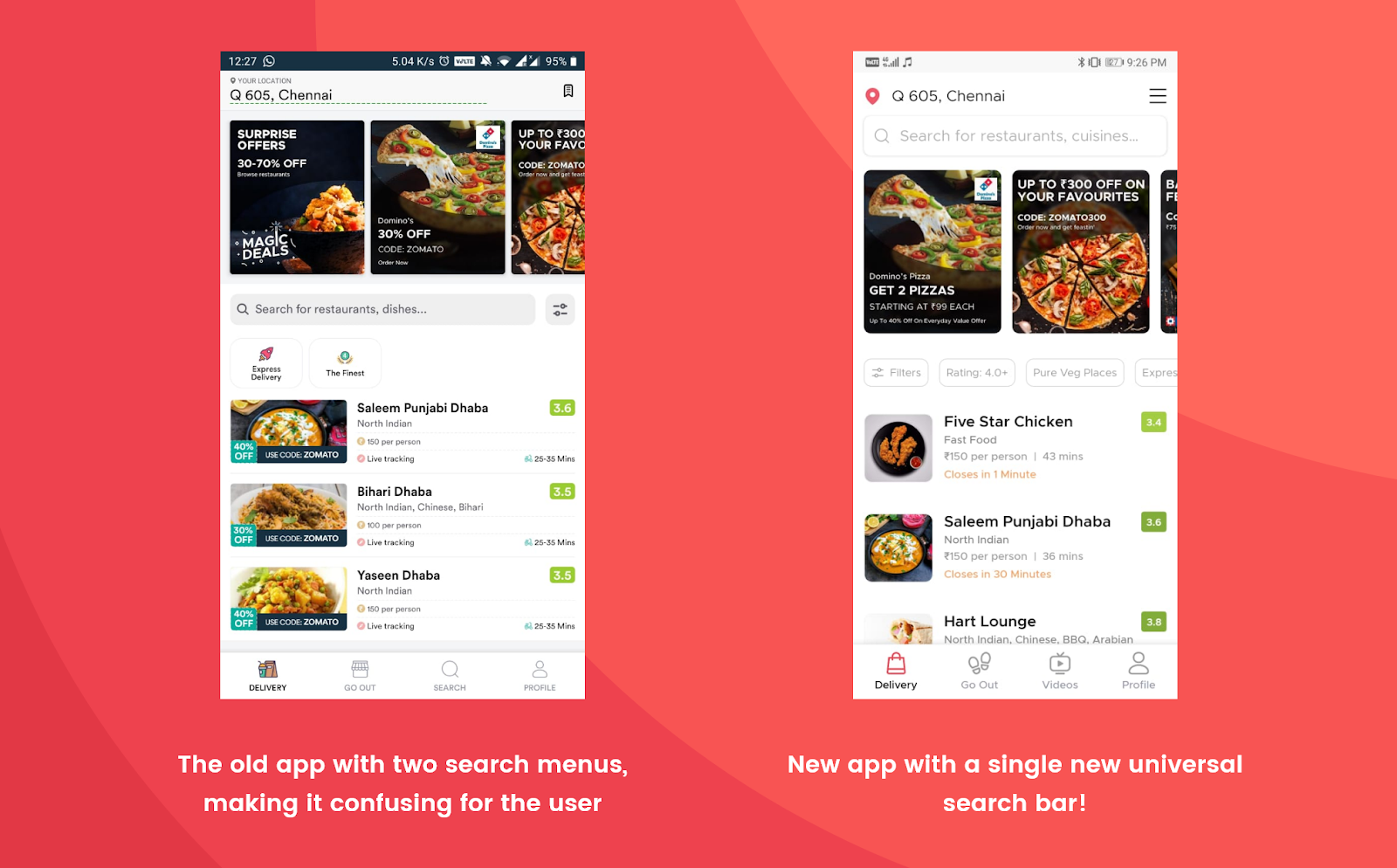 A Usability Analysis of the Food-Delivery Duopoly in India