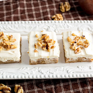Frosted Maple Pear Blondies