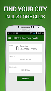 GSRTC Bus Time Table - náhled