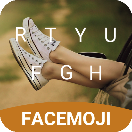 Canvas Sneaker Emoji Keyboard Theme for Facebook