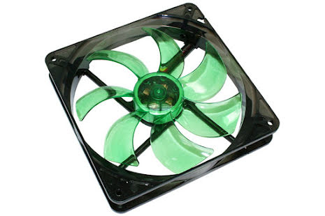 Cooltek vifte m/grønn LED, Silent Fan 140, 140x25