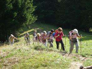 Photo: montée à Bergstations Hütte