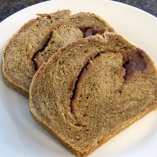 Apple - Swirled Pumpkin Yeast Bread.