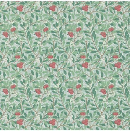Arbutus Tapet - thyme/coral
