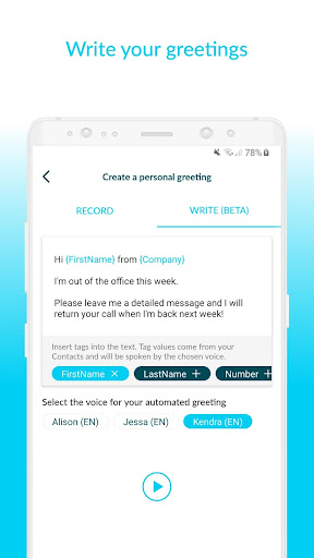 Voxist: Visual voicemail you can read 1.30.6 screenshots 4