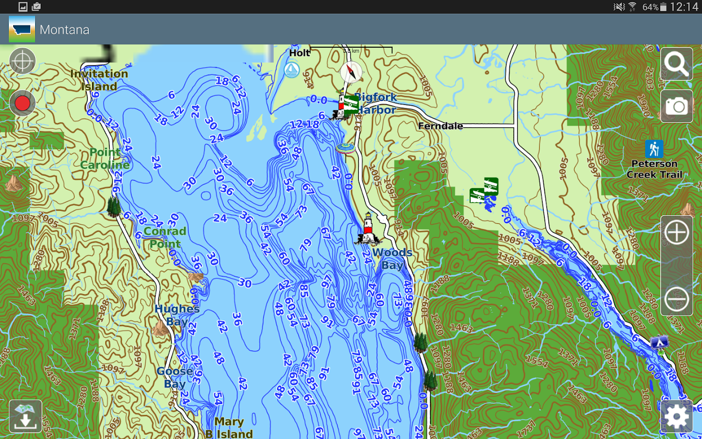 Aqua Map Montana Lakes GPS- screenshot