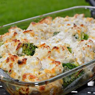 Chicken, Broccoli and Potato Casserole.