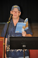 Photo: Christopher J. Jarmick reads his poetry.