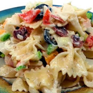 Bacon and Cheese Seafood Pasta.