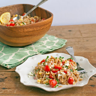 Orzo Salad with Corn, Tomatoes, Basil, and Feta