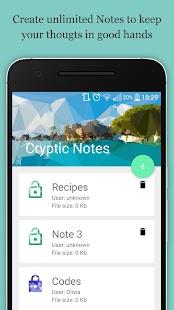 Cryptik Notes - náhled