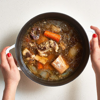 How to Make Bone Broth on the Stove or in the Slow Cooker Recipe