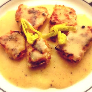 Chicken in Lemon Garlic White Wine Sauce.