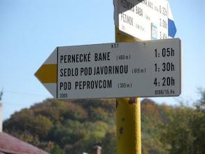Photo: Náš smer: Pernecké bane a Sedlo pod Javorinou.