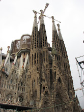 Photo: Sagrada Familia (Sacred Family) Basilica designed by Gaudi and is still under construction after 140 years.