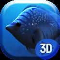 3D Blue Fish Live Wallpap icon