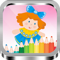 Cute Dolls Drawing and Coloring Book icon