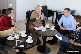 Photo: Réunion avec les membres du Service culturel du Consulat général de France à Jérusalem