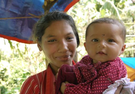 Portrait de femme - Népal - Simplicité - Coeur -