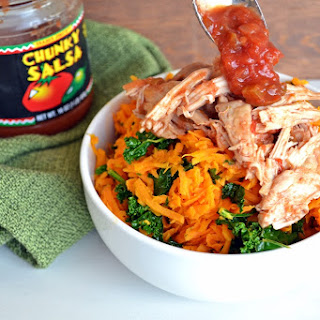 Slow Cooker Salsa Chicken with Sweet Potato Rice