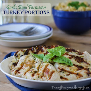 Garlic Basil Parmesan Turkey Portions