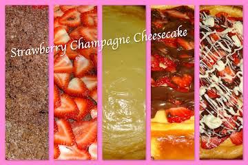 Strawberry Champagne Cheesecake
