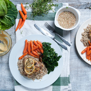 Lemon & Thyme Chicken Thighs With Baby Carrots & Buckwheat