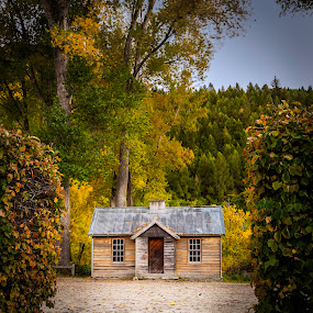 Arrowtown Hut by Mark Anolak - Buildings & Architecture Other Exteriors ( landscapes, fall colors, leaves, arrowtown, new zealand )