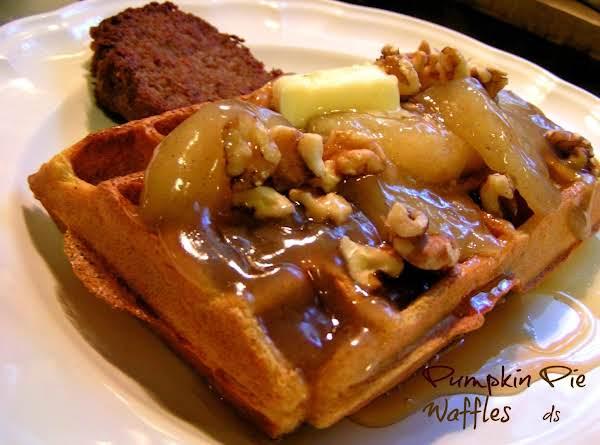 Pumpkin Pie Waffles W/warm Apple Pie Topping Recipe